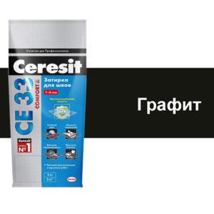 Затирка для межплиточных швов Ceresit Графит 2кг