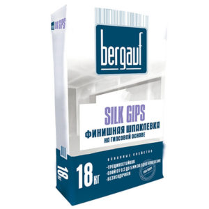 Шпаклевка Bergauf Silk Gips 18кг