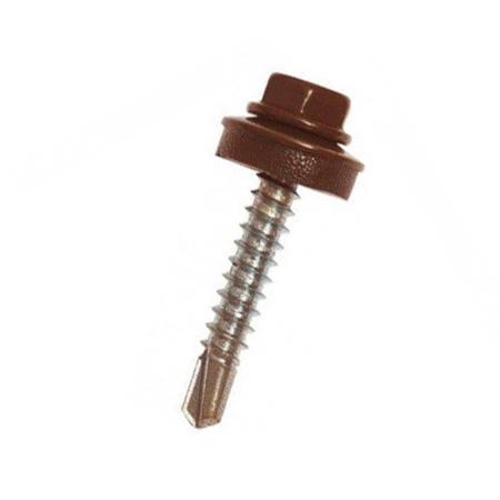 Саморез для металлочерепицы Шоколадно-коричневый