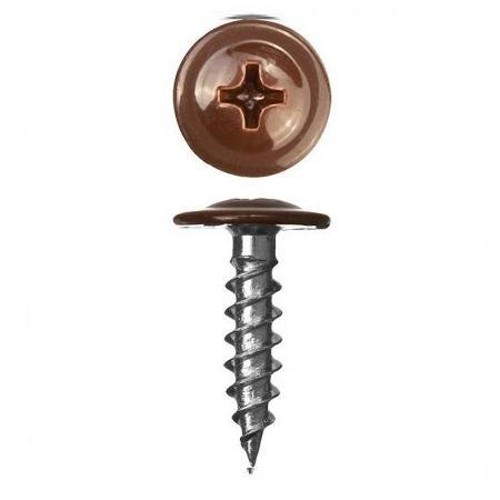 Саморез с прессшайбой Острый 4,2x25 RAL 8017 Шоколадно-коричневый