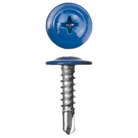 Саморез с прессшайбой Cверло 4,2x16 Ярко-синий RAL5005