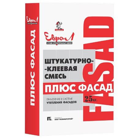 Штукатурно-клеевая смесь ПЛЮС ФАСАД 25 кг