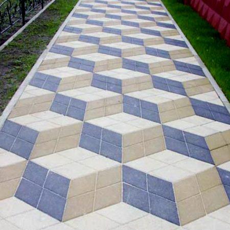тротуарная плитка 3д ромб фото