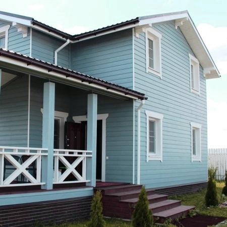 дом из фибросайдинга