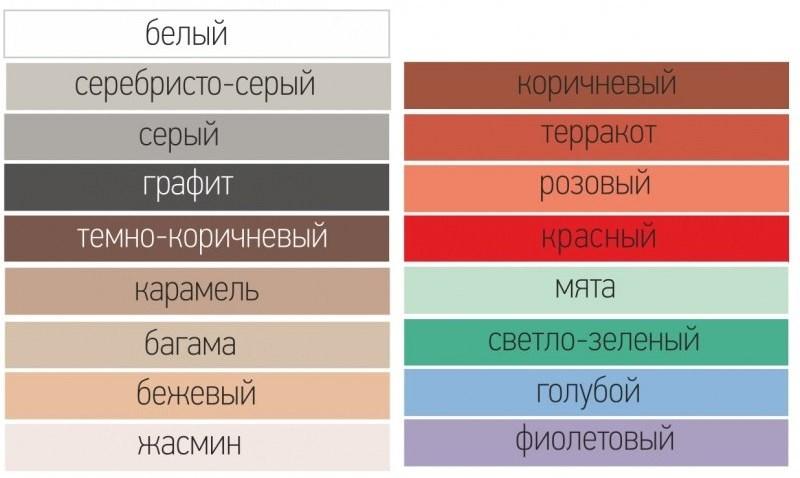 цвета затирок